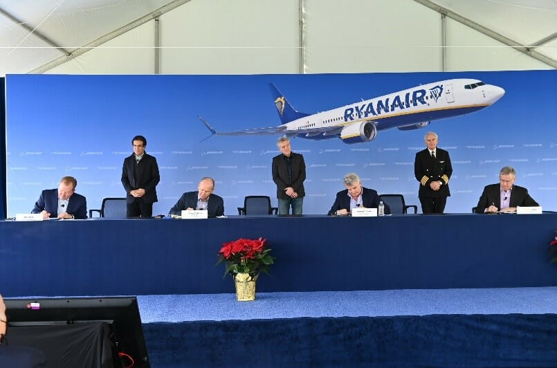 Ryanair order boost of confidence for Boeing and MAX