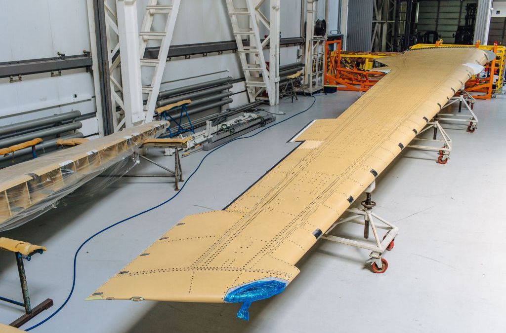 Irkut MC-21 wing from Russian composites
