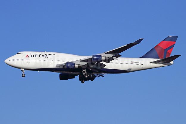 Delta Air Lines Boeing 747-451 N663US (msn 23818) NRT (Michael B. Ing). Image: 913623.
