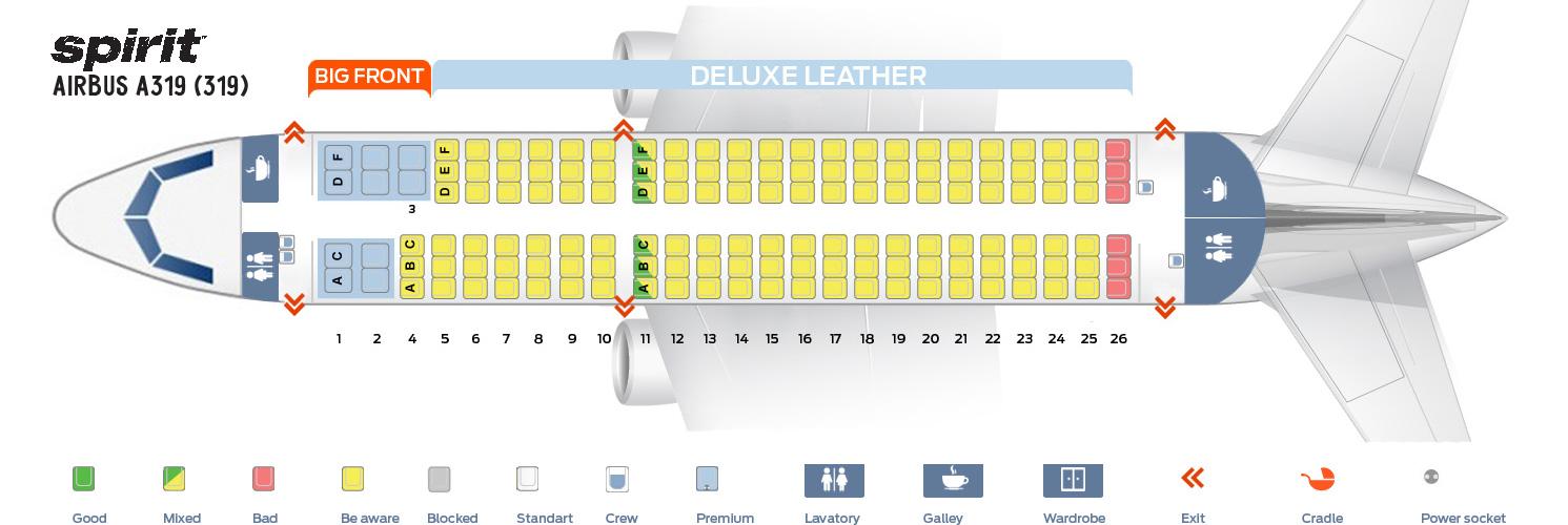 A319 Airbus Seat Interior
