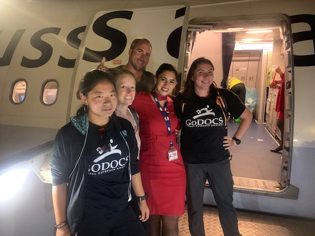 GoDocs team traveling to DRC on flight provided by Brussels Airlines