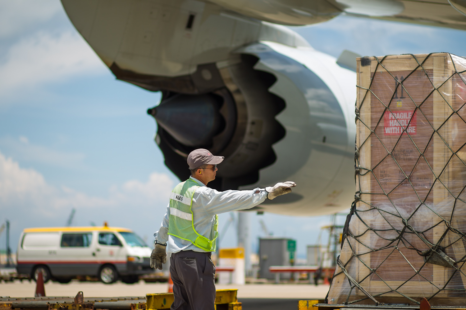 Cargo loaded Cathay Pacific