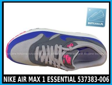 NIKE AIR MAX 1 ESSENTIAL 537383-006 w kolorze ( szare, ultramaryna, niebieskie )- cena 379,99 zł z wysyłką gratis - sklep 3