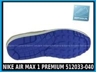NIKE AIR MAX 1 PREMIUM 512033-040 w kolorze CLASSIC STONE SL – HYPR BLUE – ANTHRACIT - cena 399,99 zł - buty męskie 4