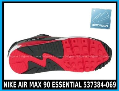 NIKE AIR MAX 90 ESSENTIAL 537384-069 - czarne Air Maxy w cenie 399,99 zł - wysyłka gratis 4