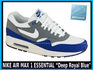 NIKE AIR MAX 1 ESSENTIAL 537383-414 Deep Royal Blue