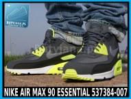 Buty Nike Air Max 90 Essential 537384-007 czarno żółte neon 4