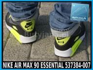 Buty Nike Air Max 90 Essential 537384-007 czarno żółte neon 8