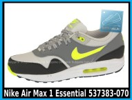 Nike Air Max 1 Essential 537383-070 Dusty Grey Volt Cool Grey Blk - cena 400 zł - airmaxsklep 2