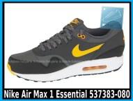 Nike Air Max 1 Essential 537383-080 DARK GREY LASER ORANGE – ANTHRACIT – BLK - cena 400 zł 2