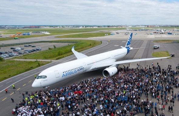 First Airbus A350 to be Painted