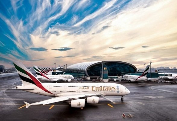 Emirates A380 Duibai Airport
