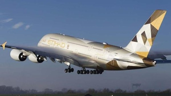 Etihad A380 Rear View