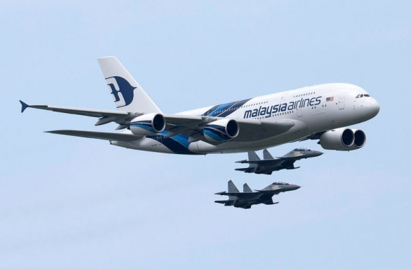 Malaysia Airlines Airbus A380 Flyover