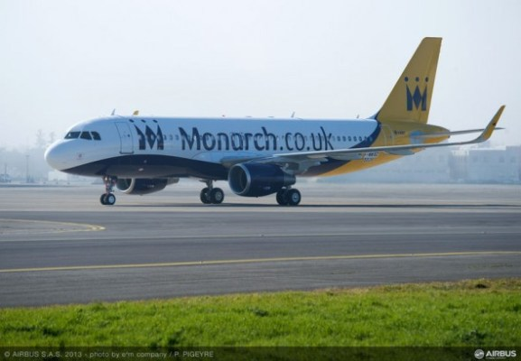 Monarch Airlines Airbus A320 with Sharklets