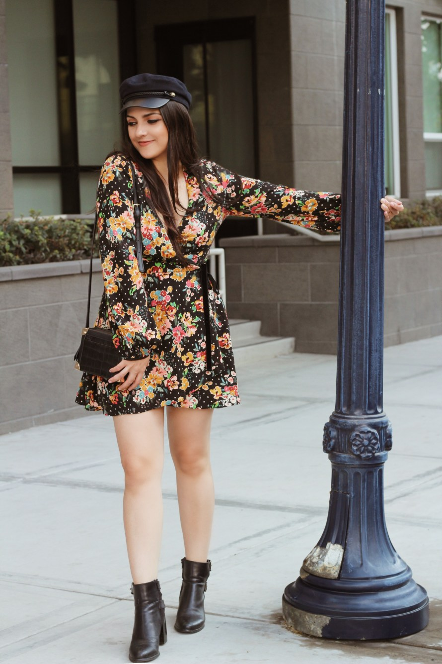 Zara 70s romper with cabby hat