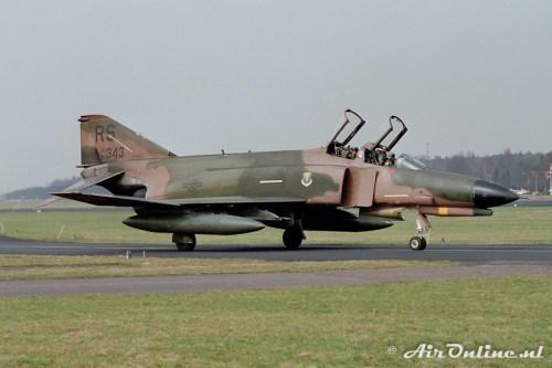 67-0343 RS F-4E Phantom USAF Soesterberg 1985