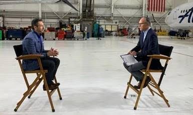 """alaska airlines ceo ben minicucci tells nbc news lester holt that leisure bookings are back to pre pandemic levels Airplane GEEK Alaska Airlines CEO Ben Minicucci tells NBC News' Lester Holt that leisure bookings are """"back to pre-pandemic levels"""""""