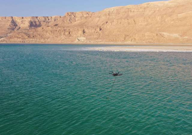 bathymetric surveys with a uav and an echo sounder successfully conducted in israel Airplane GEEK Bathymetric surveys with a UAV and an echo sounder successfully conducted in Israel