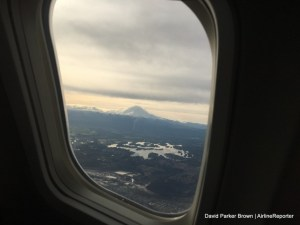 Mount Rainier, after take off