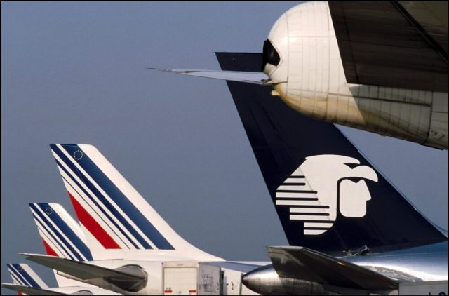 Airlines At Paris Charles De Gaulle Airport In Roissy, France In 2001.