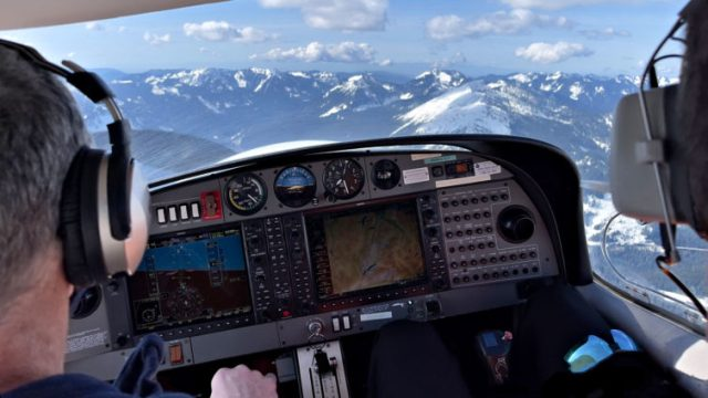 Cruising westbound at 6,500' over Snoqualmie Pass was an amazing experience. Katie Bailey photo