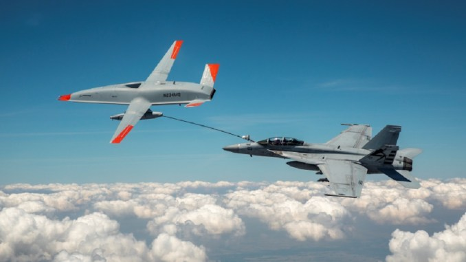 the mq 25 performs the first aerial refueling between an unmanned tanker and manned receiver aircraft Airplane GEEK The MQ-25 Performs The First Aerial Refueling Between An Unmanned Tanker And Manned Receiver Aircraft