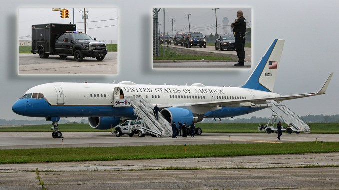 a quick look at the boeing c 32a flying as air force 2 into detroit and the vice presidential motorcade Airplane GEEK A Quick Look at the Boeing C-32A Flying as Air Force 2 Into Detroit And The Vice-Presidential Motorcade