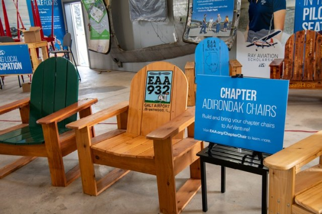 EAA Chapter 932 Custom Chair at AirVenture 2021