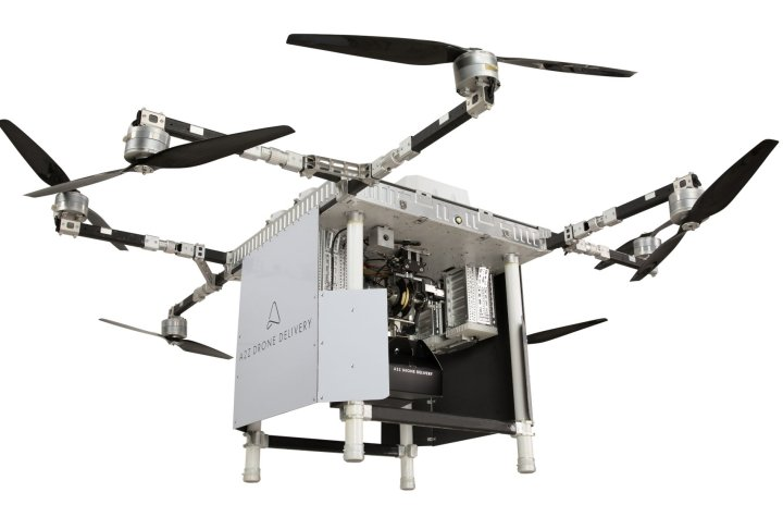 a2z drone delivery launches commercial dual payload uav featuring its freefall delivery system Airplane GEEK A2Z Drone Delivery Launches Commercial dual-payload UAV featuring its Freefall Delivery System