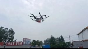 chinas jd com developed a world class delivery drone this engineer drove 10 hours to use his drone to deliver food to flood stranded workers Airplane GEEK China's JD.com Developed a World-Class Delivery Drone. This Engineer Drove 10 Hours to Use His Drone to Deliver Food to Flood-Stranded Workers