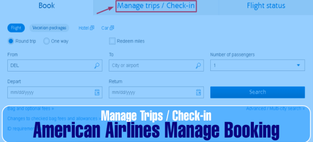 How to manage American Airlines flight Booking