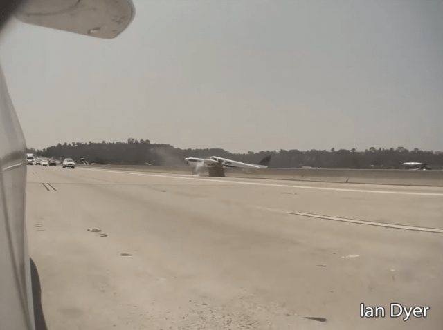 video emerges of piper pa 32 forced landing on busy socal freeway Airplane GEEK Video Emerges Of Piper PA-32 Forced Landing on Busy SoCal Freeway