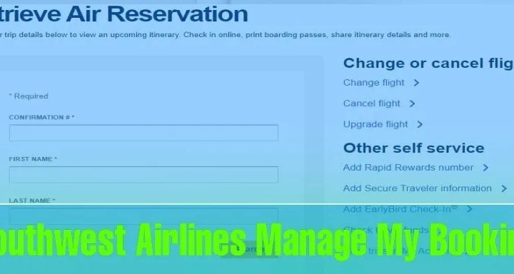 how do i manage my booking with southwest airlines Airplane GEEK How do I Manage my Booking with Southwest Airlines