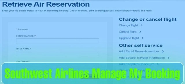 How do I Manage my Booking with Southwest Airlines