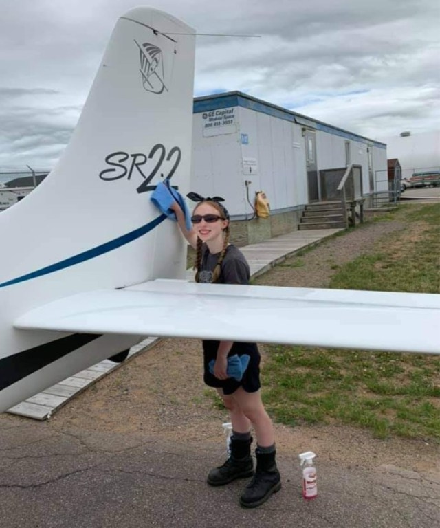 Cirrus aircraft being washed by Echo Foxtrot Aircraft Washing