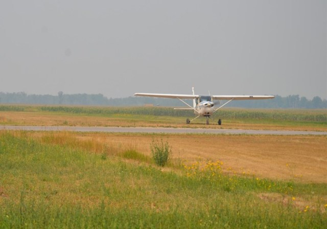 Megan Lokstet Taxxing Her Extremely Solo Flight