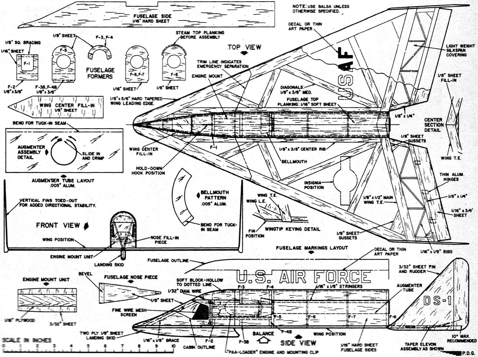 Rocket Jetex Powered Dyna Soar Article Amp Plans July
