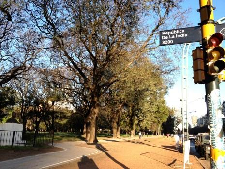 On Avenida del Libertador