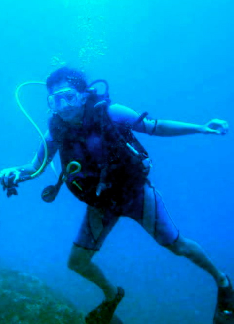 Diving off Netrani Island