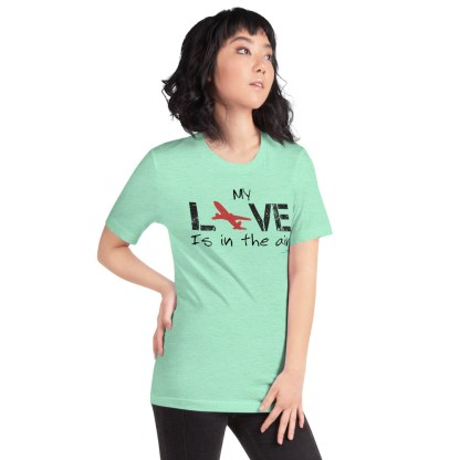 airplaneTees MY Love is in the air tee... Short-Sleeve Unisex 48
