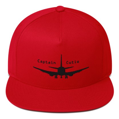 airplaneTees Captain Cutie Hat - Flat Bill Cap 3