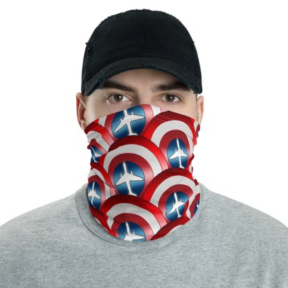 airplaneTees Captain American Face Covering/Face Mask/captain america neck gaiter 1