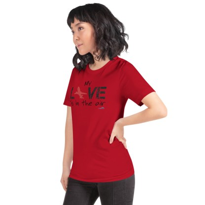 airplaneTees MY Love is in the air tee... Short-Sleeve Unisex 53
