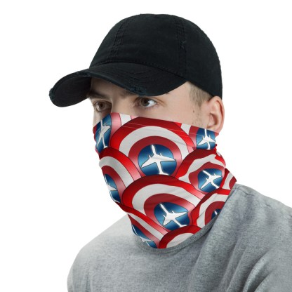 airplaneTees Captain American Face Covering/Face Mask/captain america neck gaiter 2