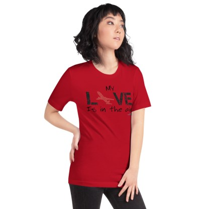 airplaneTees MY Love is in the air tee... Short-Sleeve Unisex 54