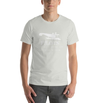 airplaneTees Pilots looking down on people since 1903 tee... Short-Sleeve Unisex 18