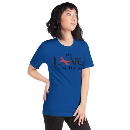 airplaneTees MY Love is in the air tee... Short-Sleeve Unisex 36