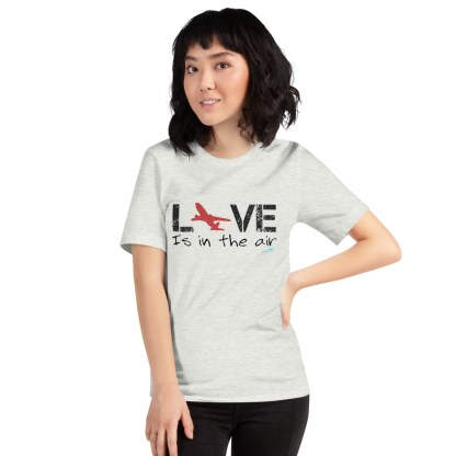 airplaneTees LOVE is in the air tee... Short-Sleeve Unisex 16