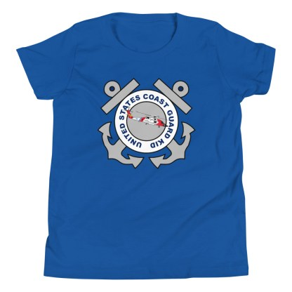 airplaneTees Coast Guard Kid- Back Printed... Youth Short Sleeve T-Shirt 12